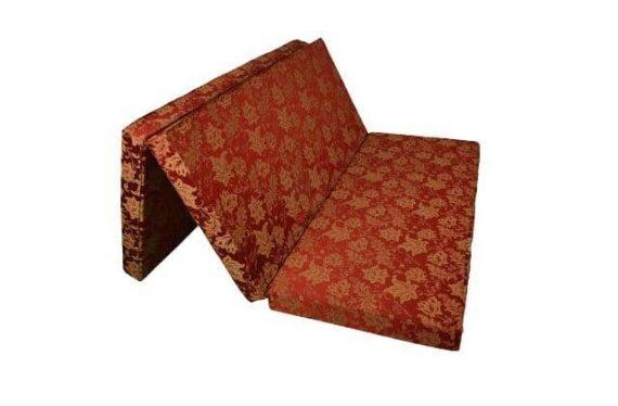 Đệm bông tinh khiết 2 mảnh + 3 mảnh Sông Hồng vỏ vải gấm 1