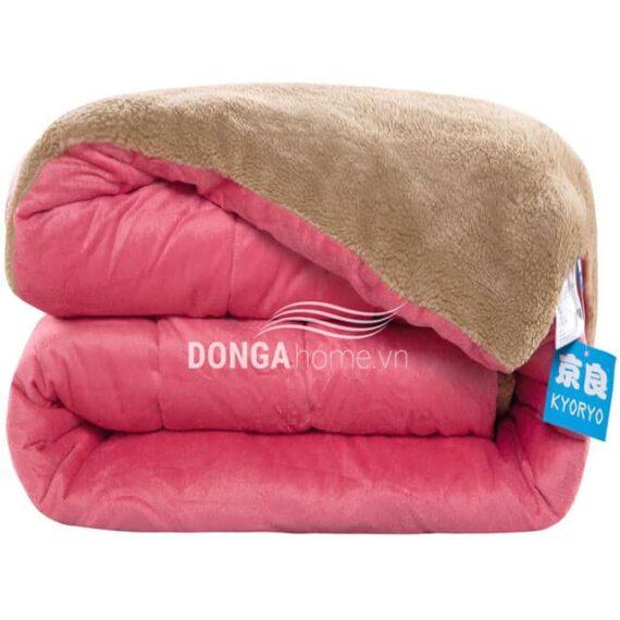 Chăn lông cừu kyoryo hồng 1 2mx2m3
