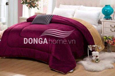 Chăn lông cừu Kyoryo Đỏ Bordeaux 4