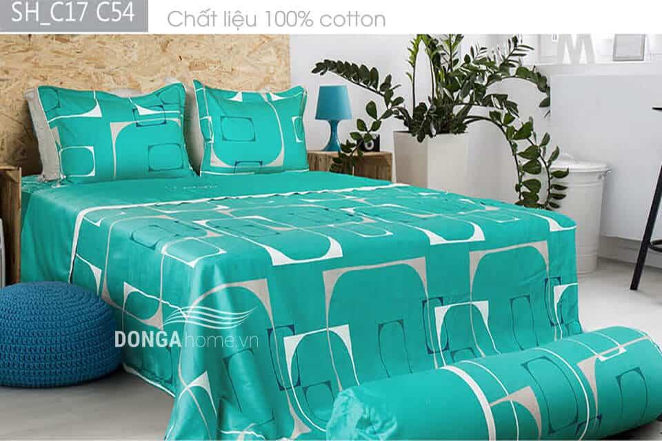 Bộ chăn ga gối Sông Hồng Classic Miền Nam vải Cotton SH_C17 C54