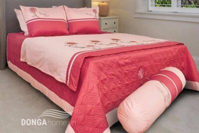Bộ chăn ga gối sông hồng h17 050