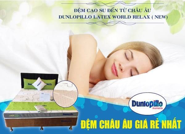 Đệm cao su Dunlopillo Latex World Relax 111
