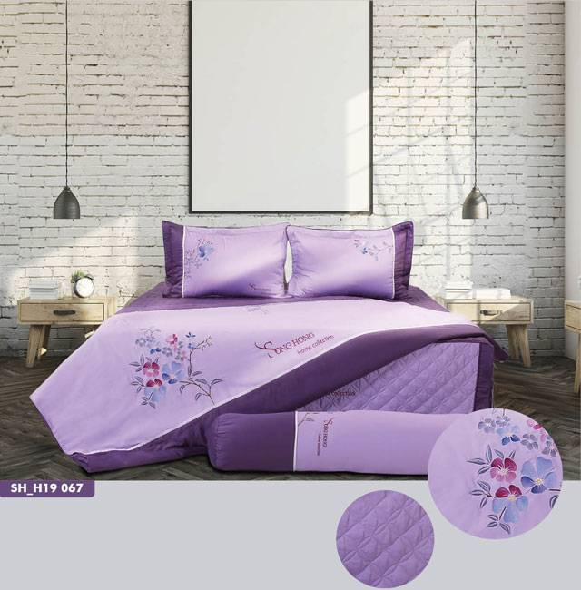 Bộ chăn ga gối Home Collection H19 067