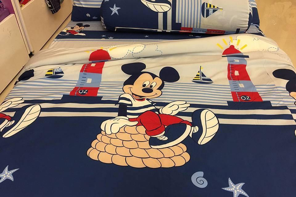 Bộ chăn ga gối Sông Hồng trẻ em Disney DN19 011