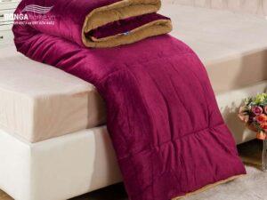 Chăn lông cừu Nekio đỏ Bordeaux nhập khẩu Nhật Bản