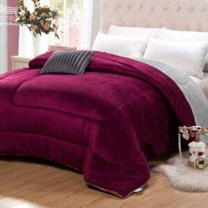 Chăn lông cừu Nhật Bản đỏ Bordeaux chính hãng