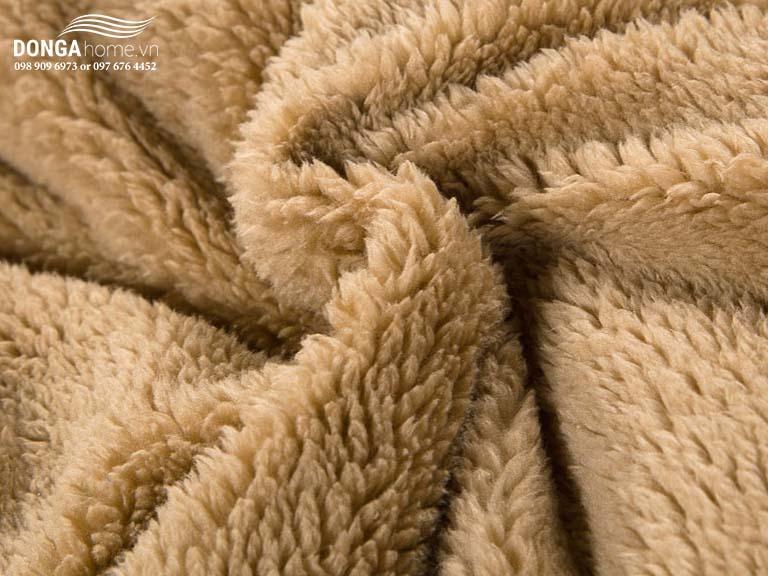 Chăn lông cừu Nekio Nhật Bản nâu Socola chính hãng