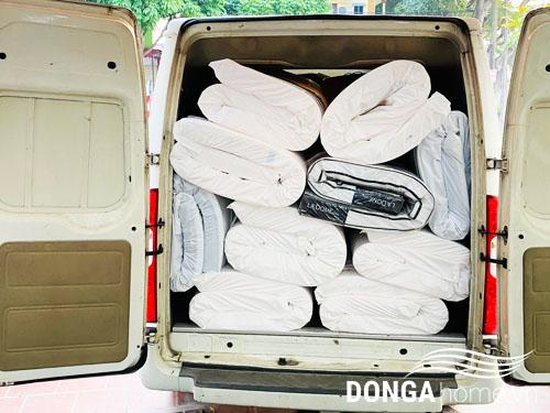 Miễn phí vận chuyển khi mua đệm cao su Liên Á tại nhà phân phối Đông Á
