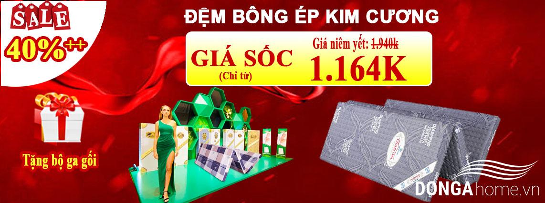 Khuyến mại đệm bông ép Kim Cương