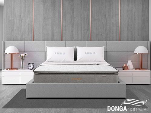 Đệm lò xo Liên Á cocoon grey luxe sang trọng đẳng cấp