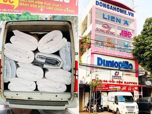 Nhập hàng chăn ga gối đệm Liên Á tại nhà phân phối Đông Á