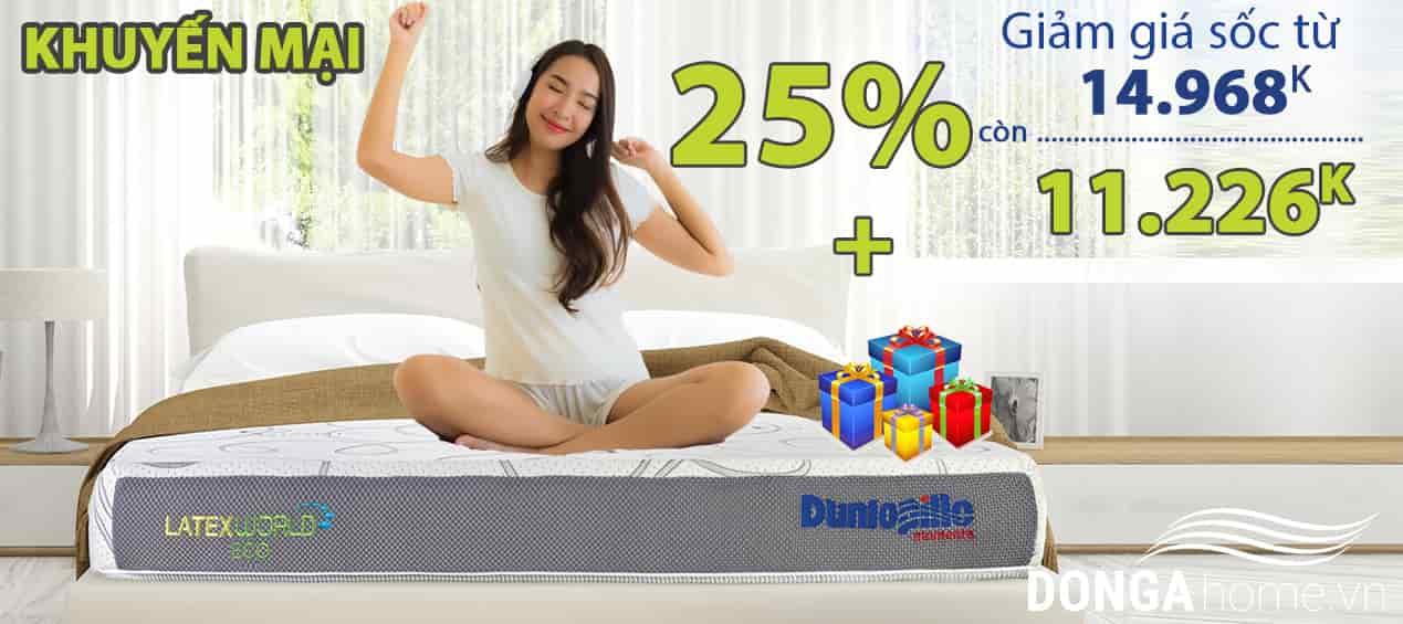 Khuyến mại đệm cao su Dunlopillo