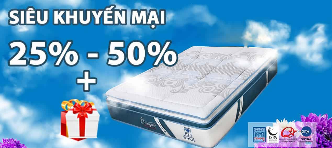 Khuyến mại đệm lò xo Kim Cương lên tới 50%
