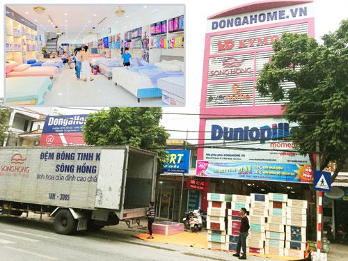 Hình ảnh nhà phân phối bán buôn chăn ga gối đệm Sông Hồng